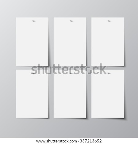 Vector abstract background, Paper sheets. - stock vector