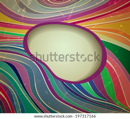Vector abstract background. Retro style - stock vector