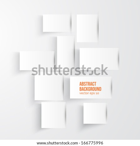 Vector abstract background. Square and label paper - stock vector
