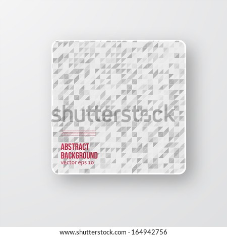 Vector Abstract background. Squares white and shadow