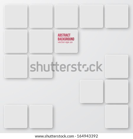 Vector Abstract background. Squares white and shadow - stock vector