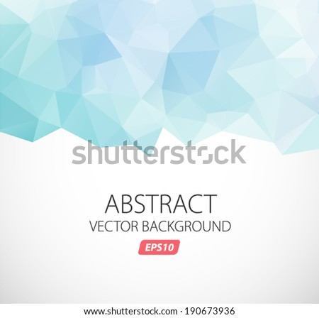 Vector abstract background - triangl