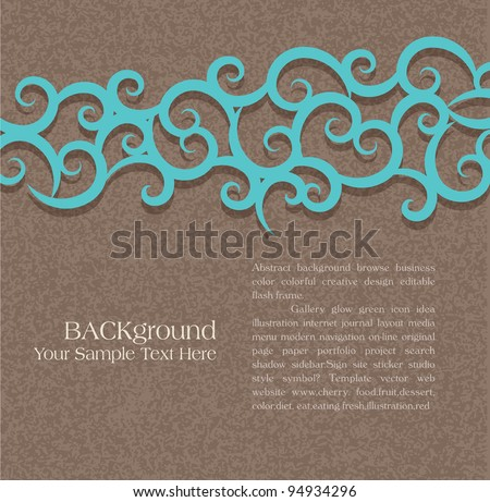 vector abstract background with a pattern - stock vector