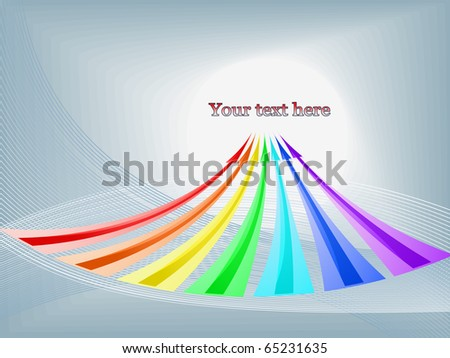 Vector abstract background with arrows - stock vector