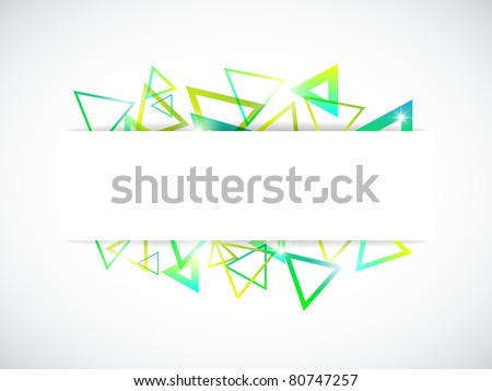 Vector abstract background with bright triangles and space for your text - stock vector