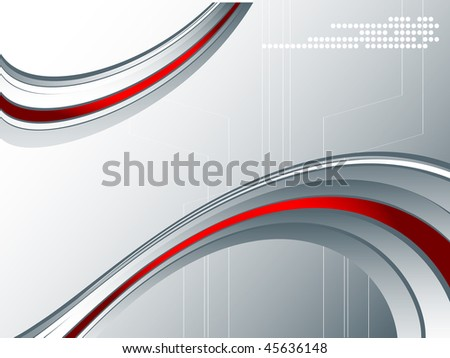 vector abstract background with bright wavy lines