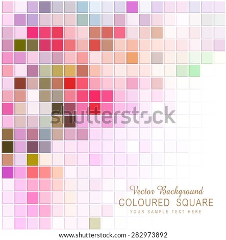 vector abstract background with colored squares - stock vector