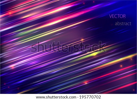 vector abstract background with colorful motion blur shining  - stock vector