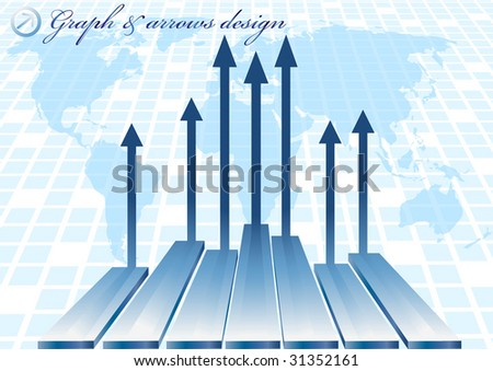 Vector abstract background with diagram; clip-art