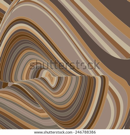 vector abstract background with flowing lines - stock vector