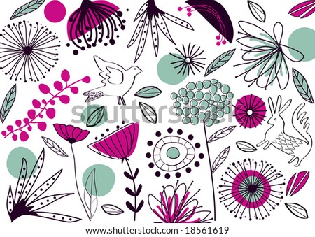 vector - abstract background with nature theme - stock vector