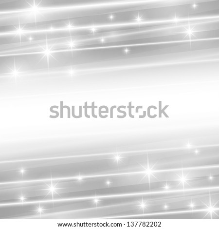 vector abstract background with strips and stars - stock vector