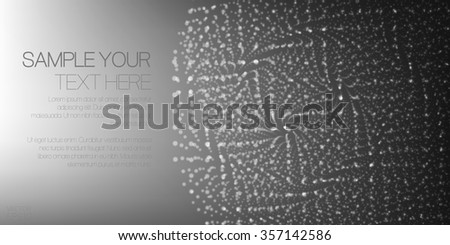 Vector abstract background with the image of the infinite perspectives of a futuristic design .
