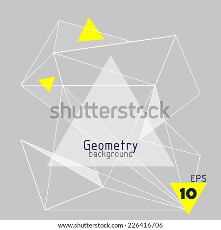 Vector abstract background with triangles - stock vector