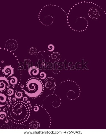 Vector abstract background with twirl pattern - stock vector