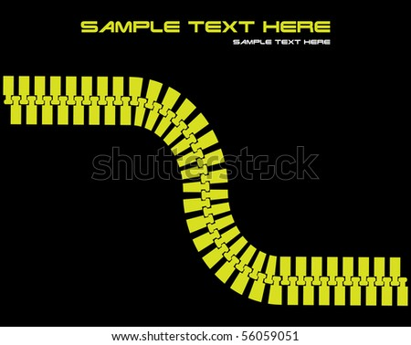 vector abstract background with zipper - stock vector