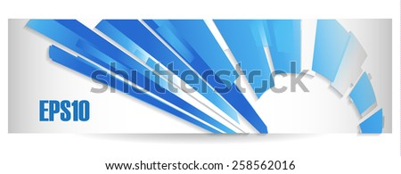 Vector abstract banner background in blue colors in business style - stock vector