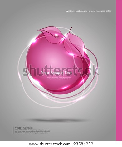 vector abstract banner in the form of an apple - stock vector