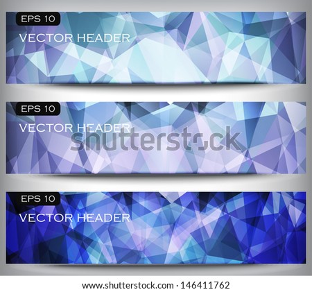 vector abstract banners set, modern template for your design - stock vector
