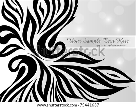 vector abstract black-and-white background - stock vector