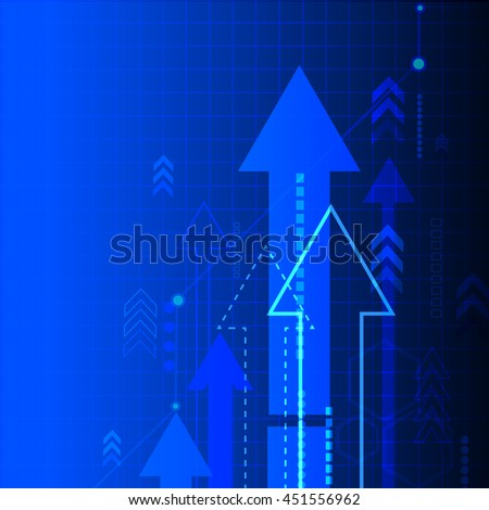 vector abstract blue background with arrows. vector business illustration.
