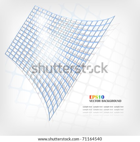 Vector abstract blue grid - stock vector