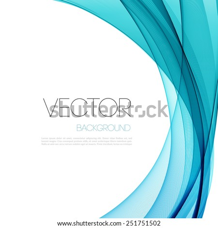 Vector Abstract blue transparent line  background. Template brochure and flyer design - stock vector