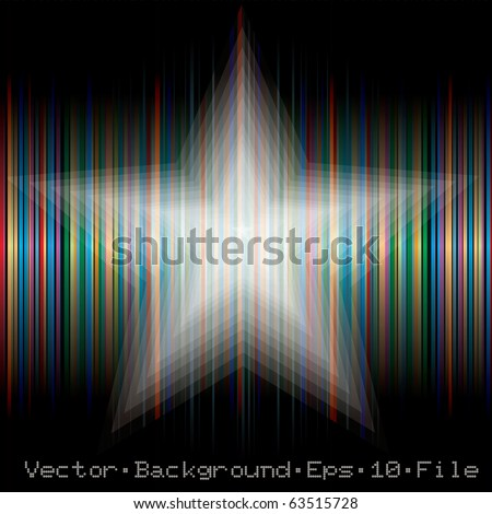 vector abstract blurry star, eps 10 file - stock vector