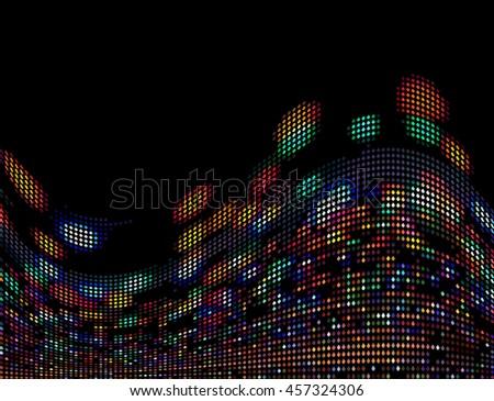 Vector Abstract Bokeh City Night View - stock vector