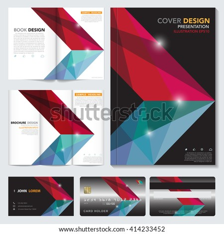 Vector abstract book cover, name card,credit card,brochure  template.Illustration eps10 - stock vector