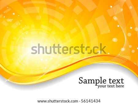 Vector abstract bright background; clip-art
