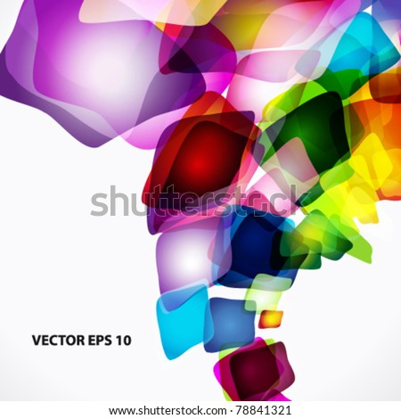 Vector abstract bright colorful background. - stock vector