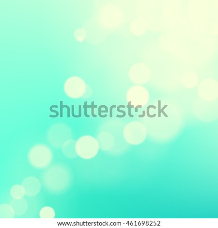 Vector abstract bright green blurred background. Calm modern fond. Cool cyan bokeh backdrop.