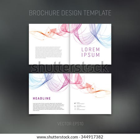 two page brochure template - double page stock photos royalty free images vectors