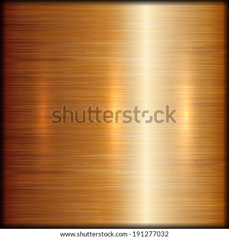 Vector abstract brushed copper metal texture background - stock vector