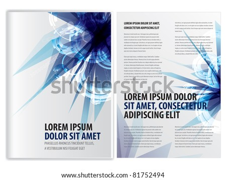 vector abstract business brochure (booklet) template, eps10 vector - stock vector