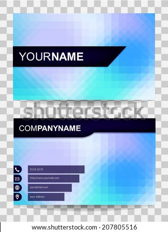 Vector Abstract Business Card - stock vector
