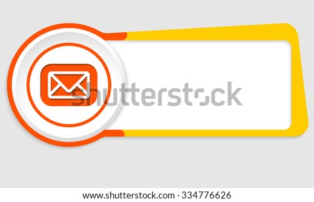 Vector abstract button for your text and envelope - stock vector