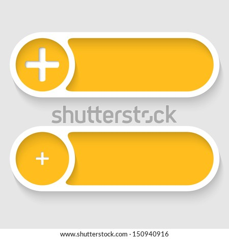 vector abstract buttons with plus - stock vector