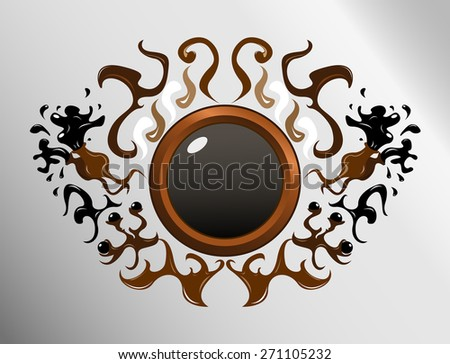 Vector abstract chocolate design for text or logo - stock vector
