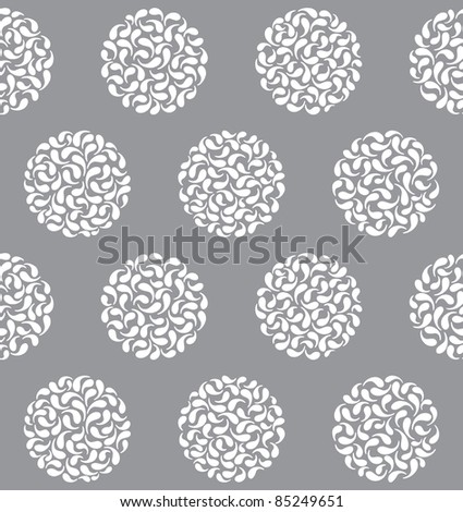 Vector abstract circles seamless pattern - stock vector
