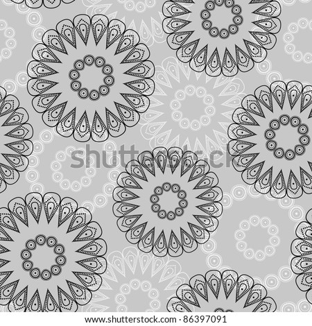 Vector abstract circles seamless pattern