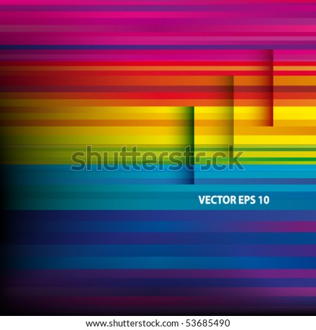 Vector Abstract colorful background. - stock vector