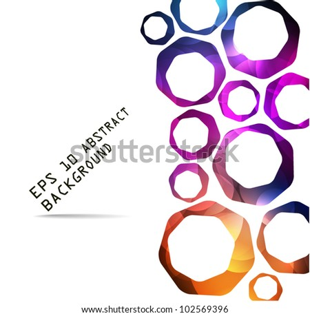 Vector Abstract colorful shapes - vector background with place for your text - stock vector