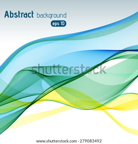 Vector abstract colorful waves background - stock vector