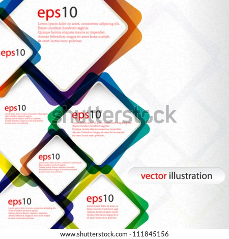 Vector abstract colorful web design background - eps10 - stock vector