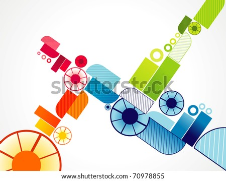 vector abstract colors illustration - stock vector