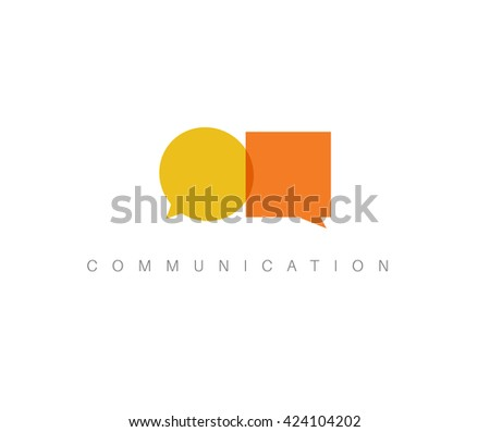 Vector abstract Communication concept illustration - two speech bubbles - stock vector