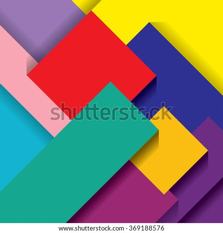 vector abstract composition with color papers - stock vector