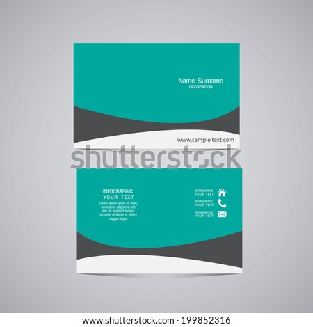 Vector abstract creative business cards (set template) - stock vector